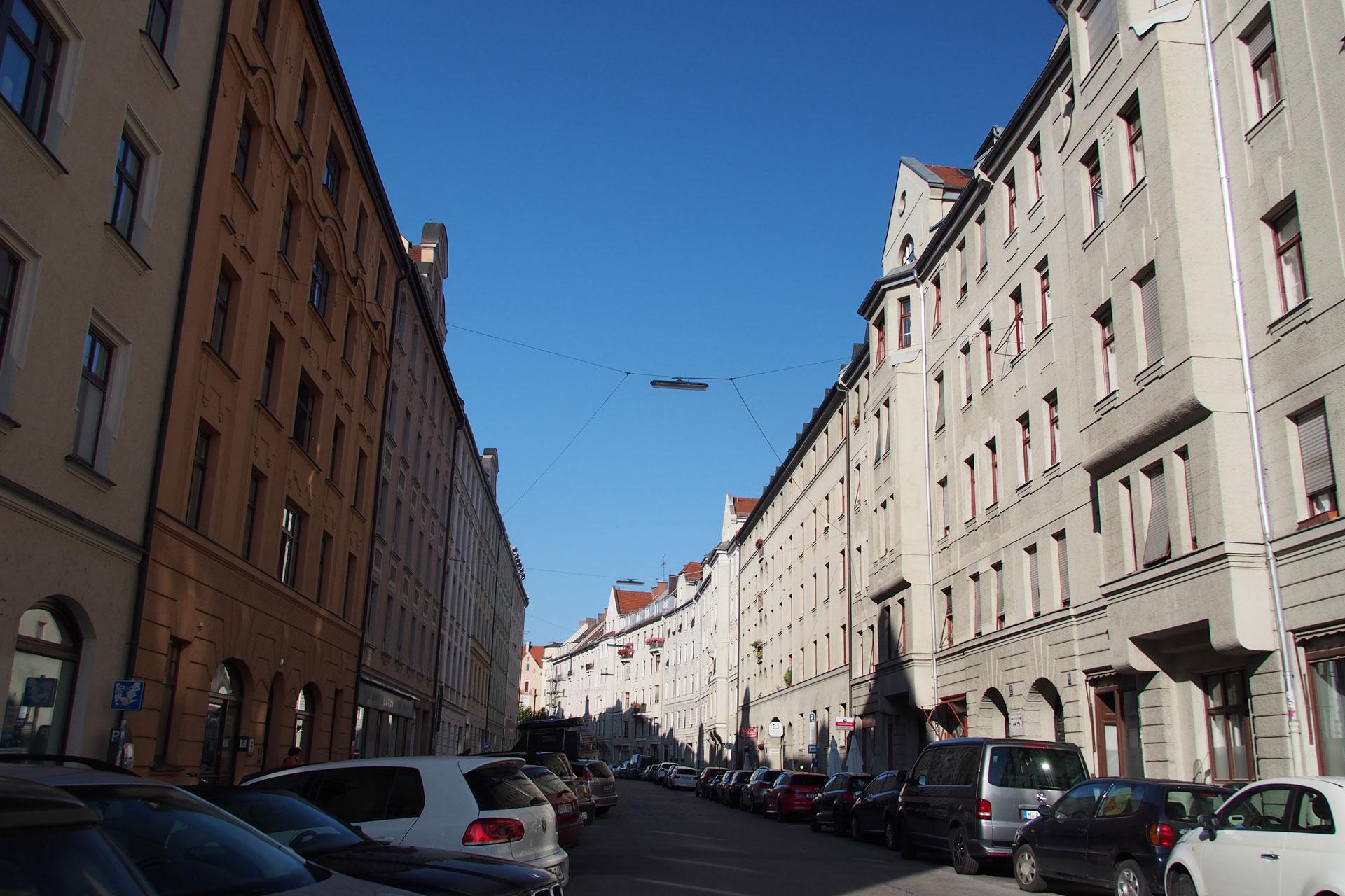 Wohnungsblock in der Dreimühlenstrasse München